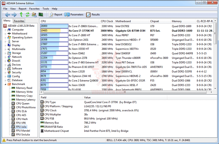 e8 GIGABYTE GA B75M D3H Micro ATX Motherboard Review