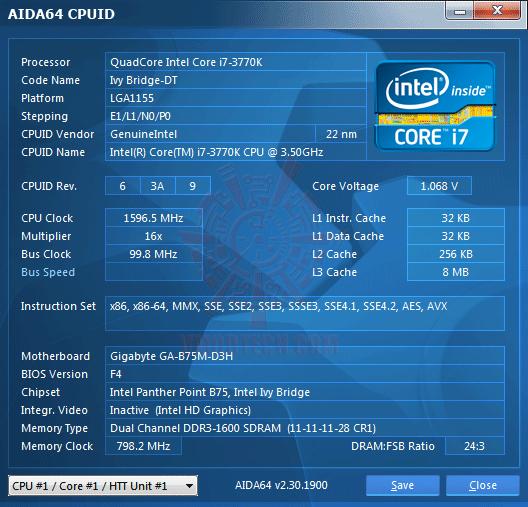 ed1 GIGABYTE GA B75M D3H Micro ATX Motherboard Review