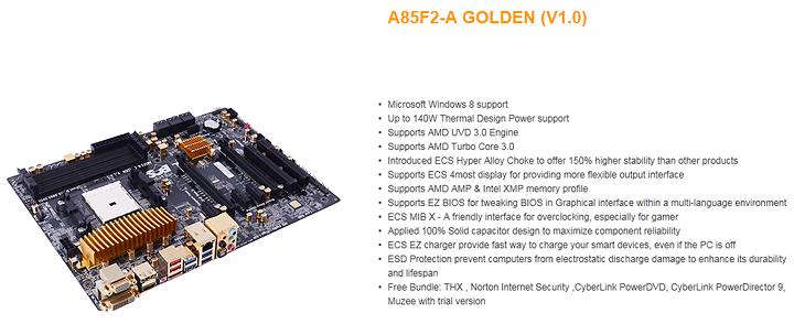 ss1 ECS A85F2 A Golden FM2 Motherboard Review