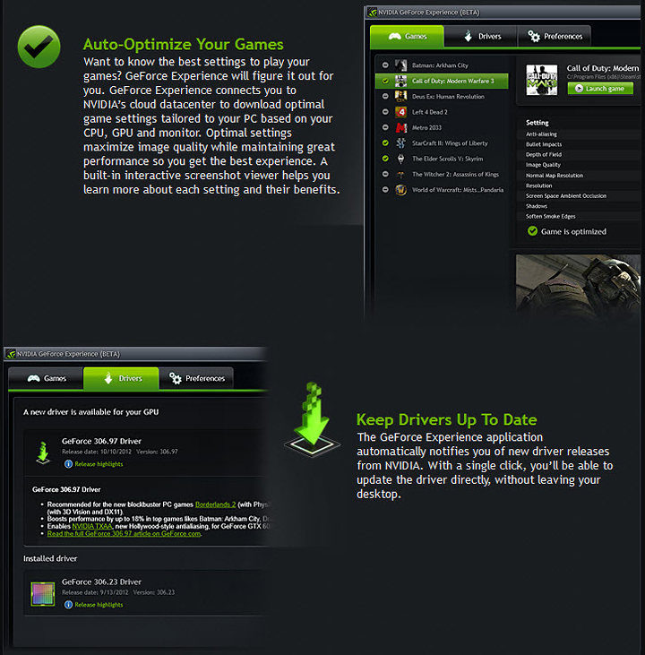 b NVIDIA GeForce EXPERIENCE