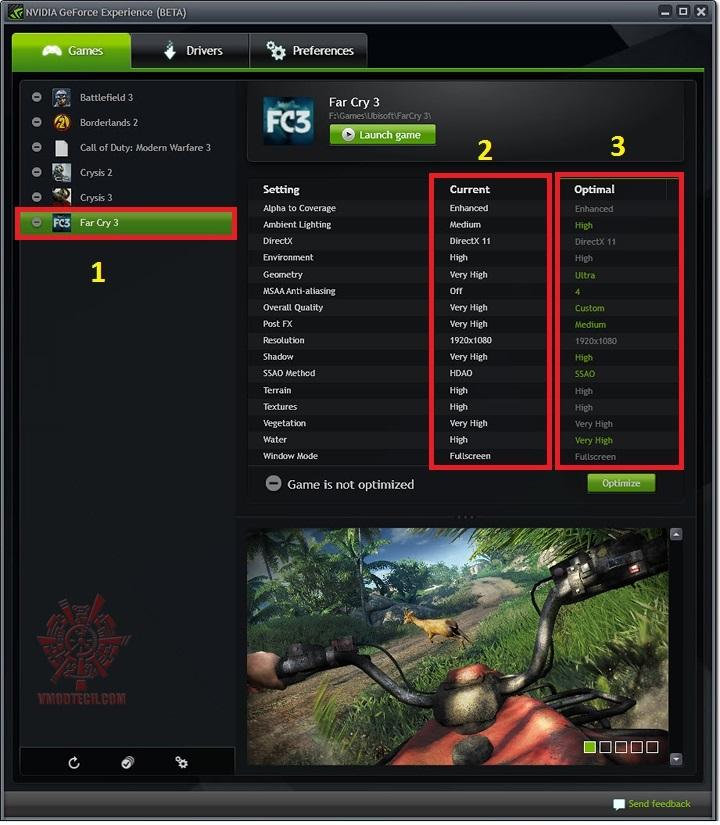 f1 NVIDIA GeForce EXPERIENCE