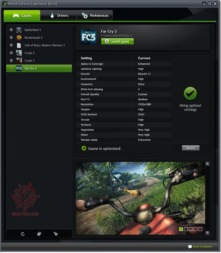 f11 NVIDIA GeForce EXPERIENCE
