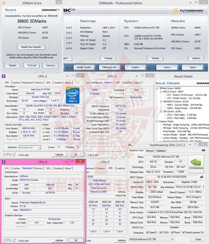06 ASRock Z87M OC Formula Micro ATX Motherboard Review เวรี่ควิกเทสต์
