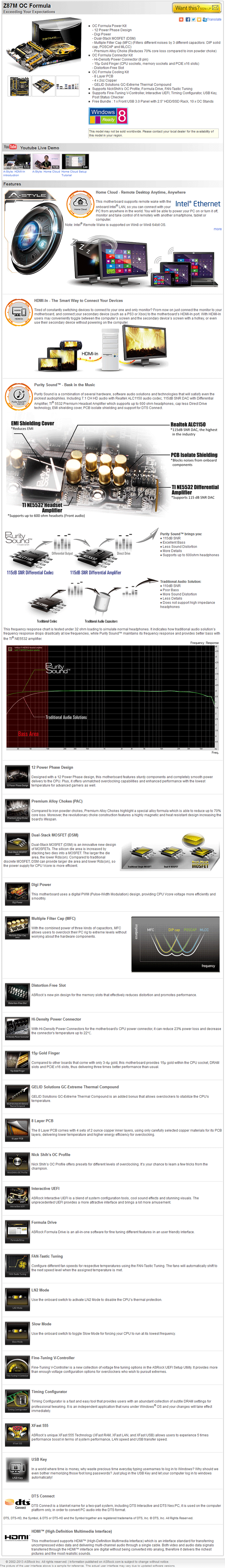 s1 ASRock Z87M OC Formula Micro ATX Motherboard Review เวรี่ควิกเทสต์