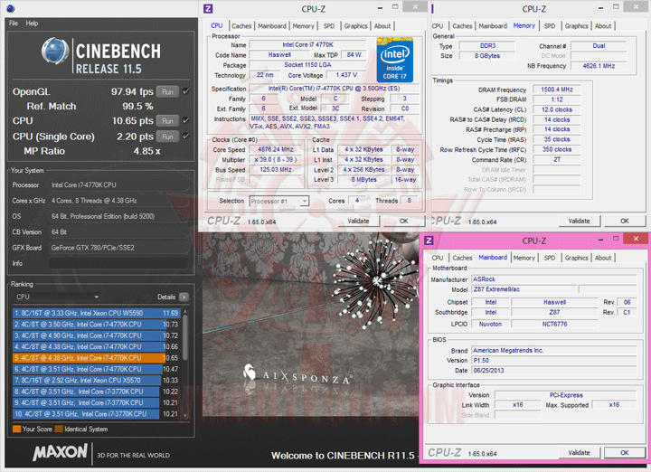 c115 ASRock Z87 Extreme9/ac 4 Ways SLI and CrossFireX Motherboard Review