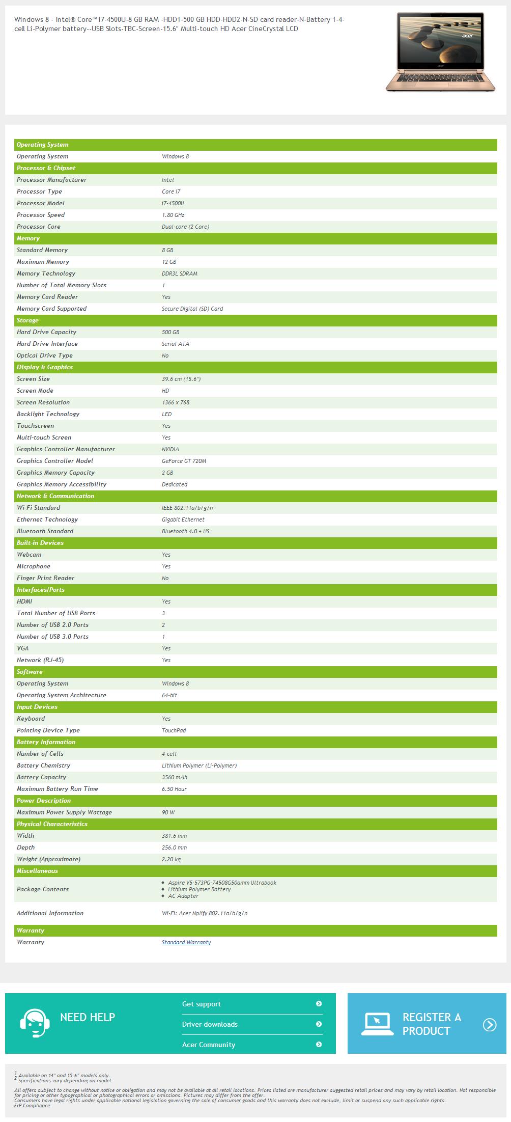 intro 02 Review : Acer Aspire V5 573PG