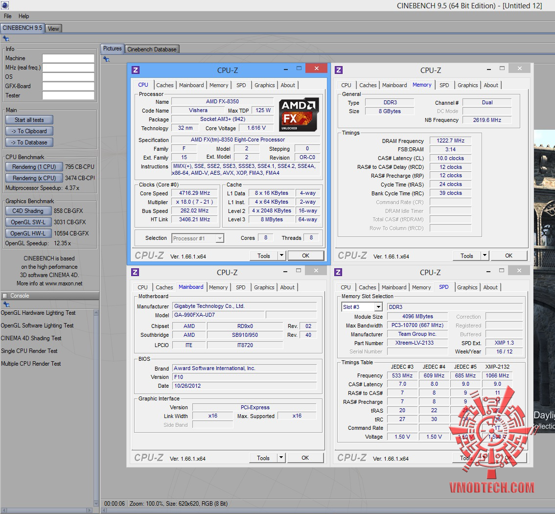 AMD FX-8350 On Air Cooling Test With Cooler Master V8 GTS