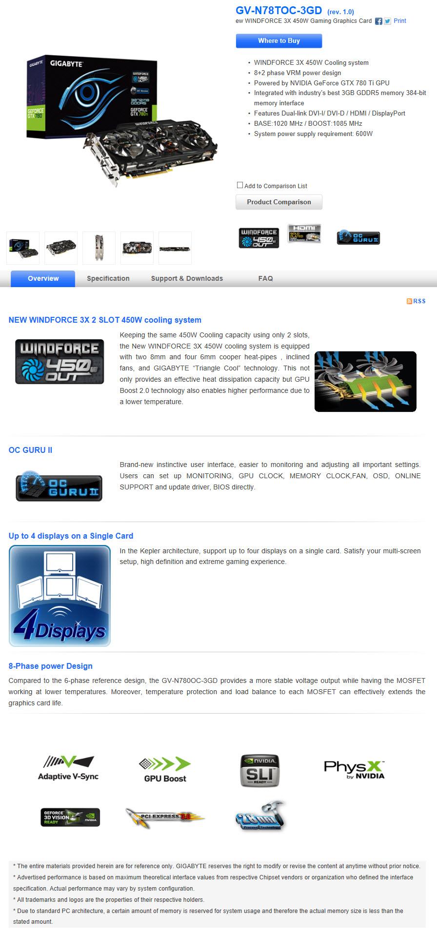 หน้าที่ 1 - GIGABYTE GeForce GTX 780 Ti GHz Edition WINDFORCE Review