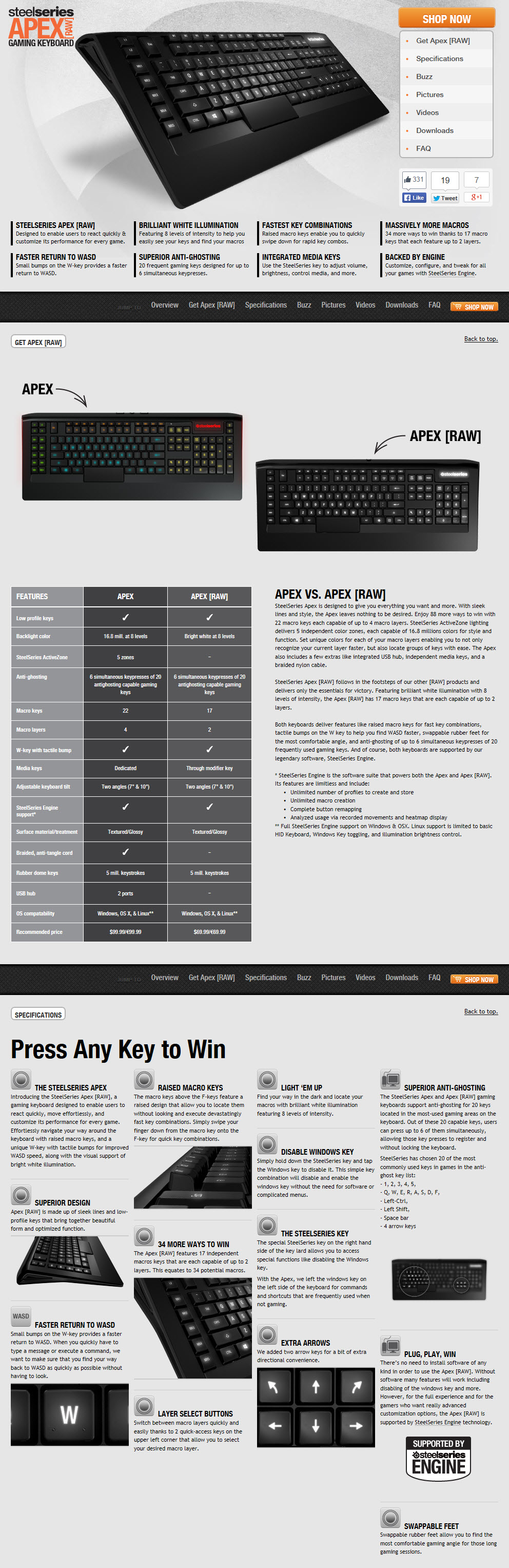 1 9 2014 12 26 36 am SteelSeries APEX RAW Gaming Keyboard Review