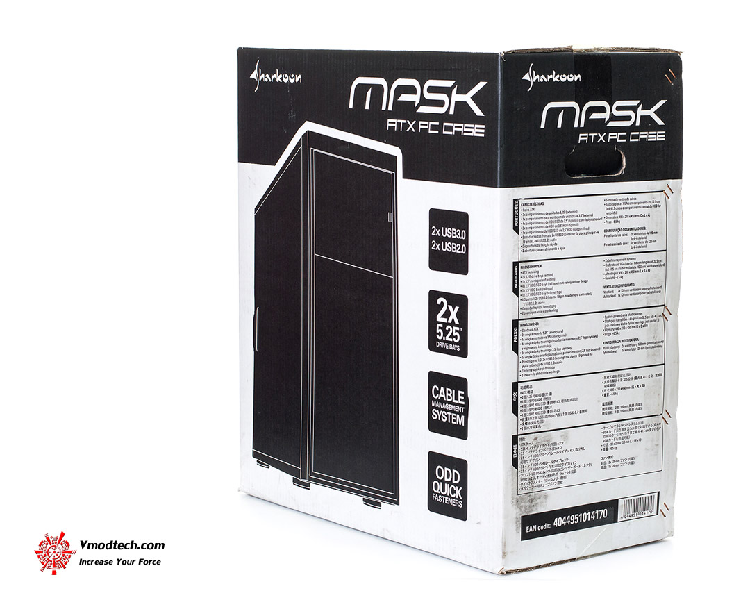 UNBOXING Sharkoon MASK ATX MID TOWER PC CASE : Product Appearance (2/3 ...