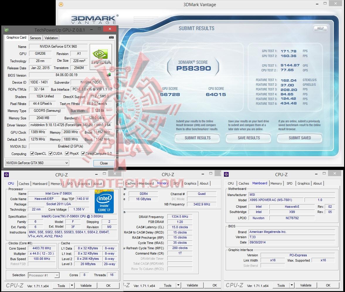 NVIDIA GeForce GTX 960 SLI Performance Test MSI Feat  PALIT