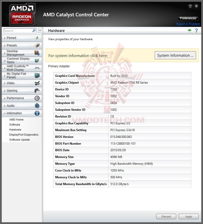 หน้าที่ 1 - AMD RADEON R9 FURY X On AMD FX-9590 Review | Vmodtech