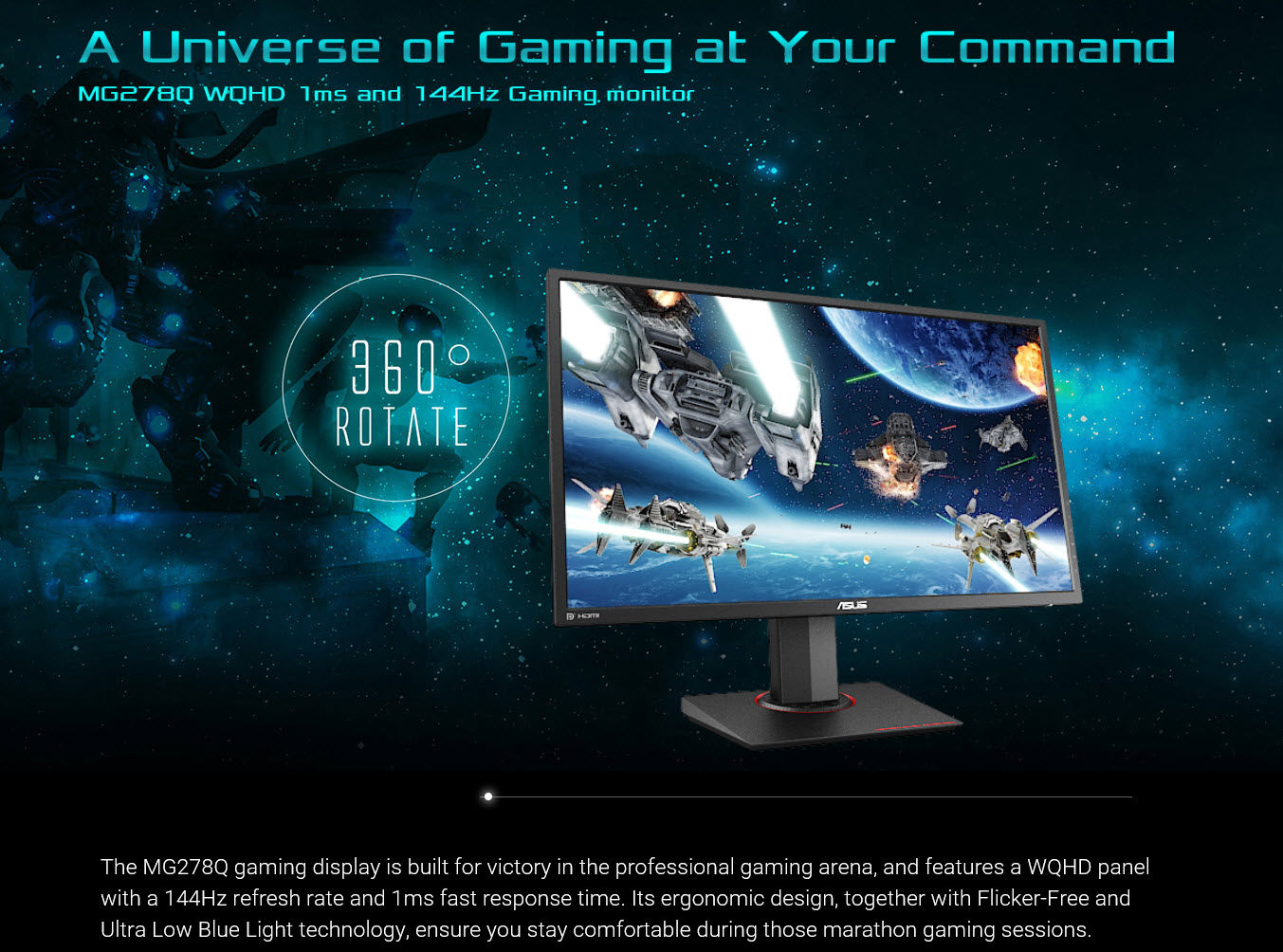 spec3 ASUS MG278Q 27 inch WQHD GAMING Monitor Review