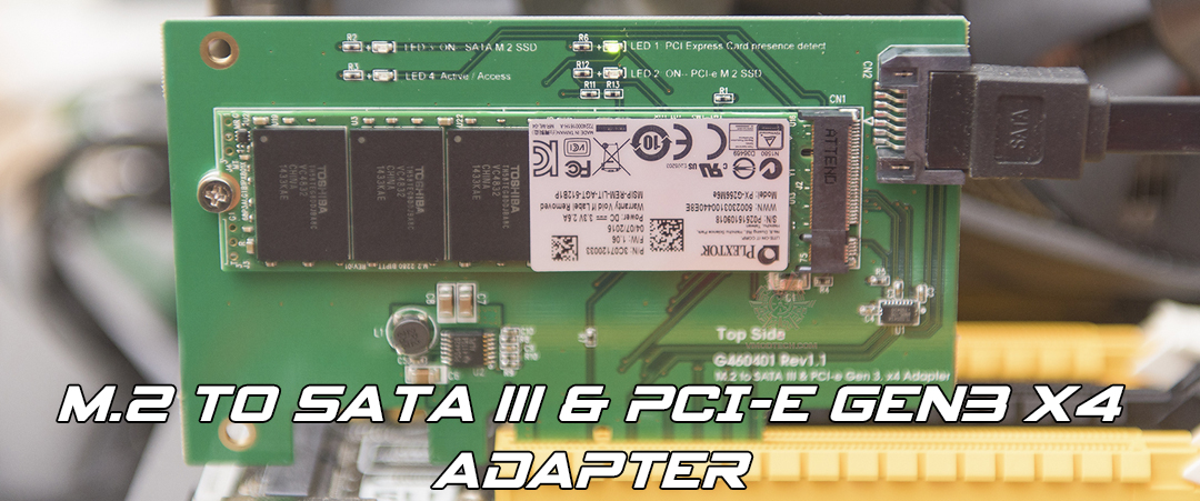 main M.2 to SATA III & PCI e gen3 x4 Adapter Review