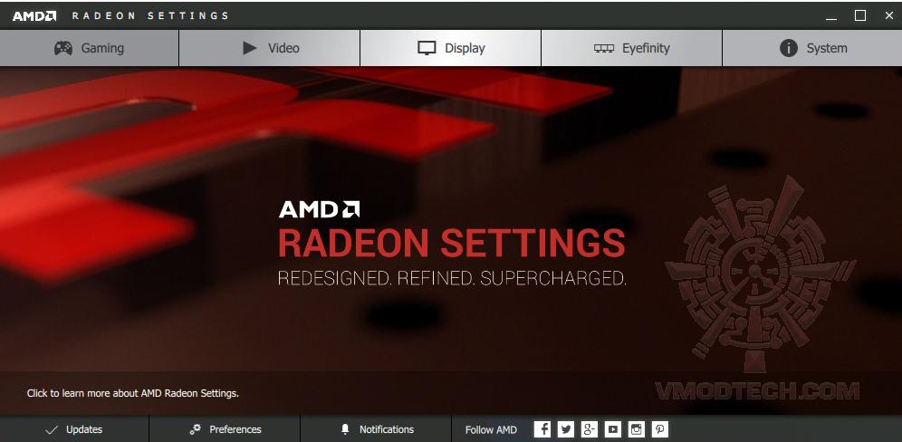 menu AMD Radeon Software Crimson Edition Display Driver 15.11 WHQL Performance Test