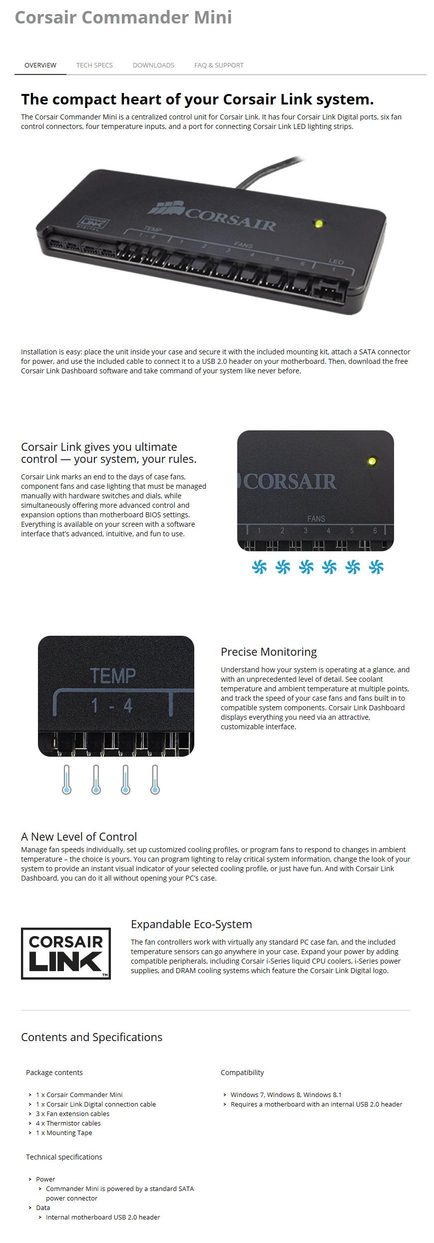 spec Corsair Commander Mini Review
