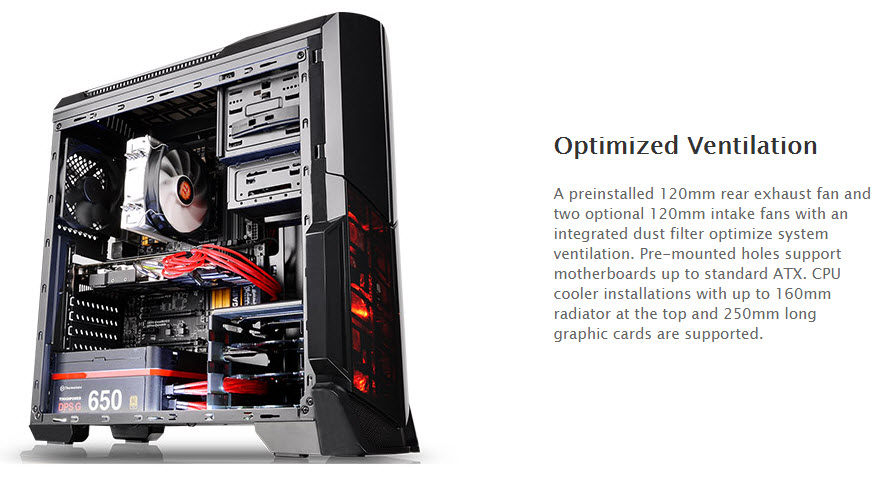 ss5 Thermaltake Versa N21 Window Mid tower Chassis