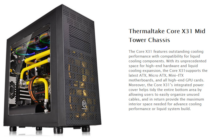 ss1 Thermaltake Core X31 Mid Tower Chassis