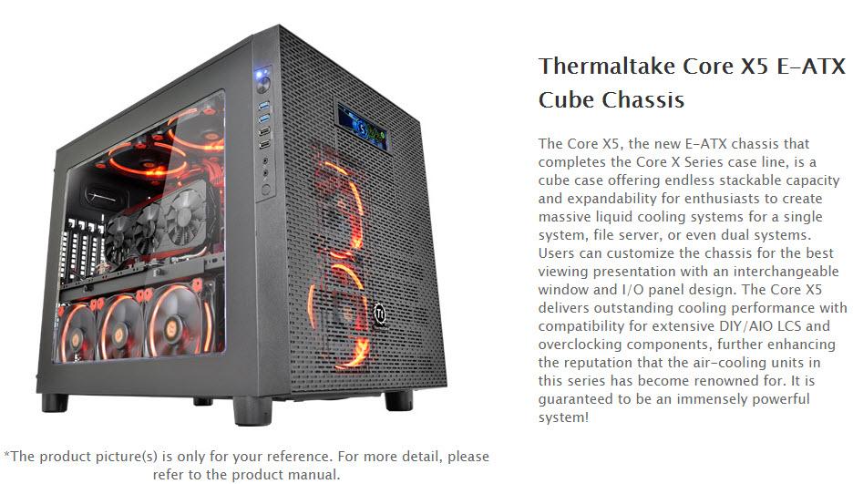 ss1 Thermaltake Core X5 E ATX Cube Chassis