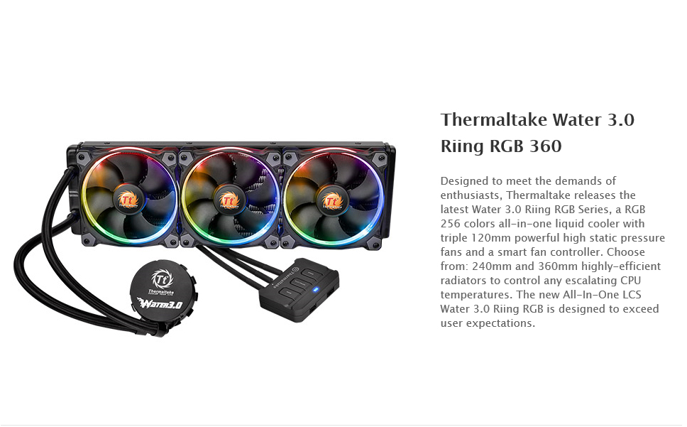 spec Thermaltake Water 3.0 Riing RGB 360 Review