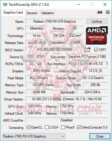 หน้าที่ 1 - SAPPHIRE NITRO Radeon RX 470 OC 4GB GDDR5 Review