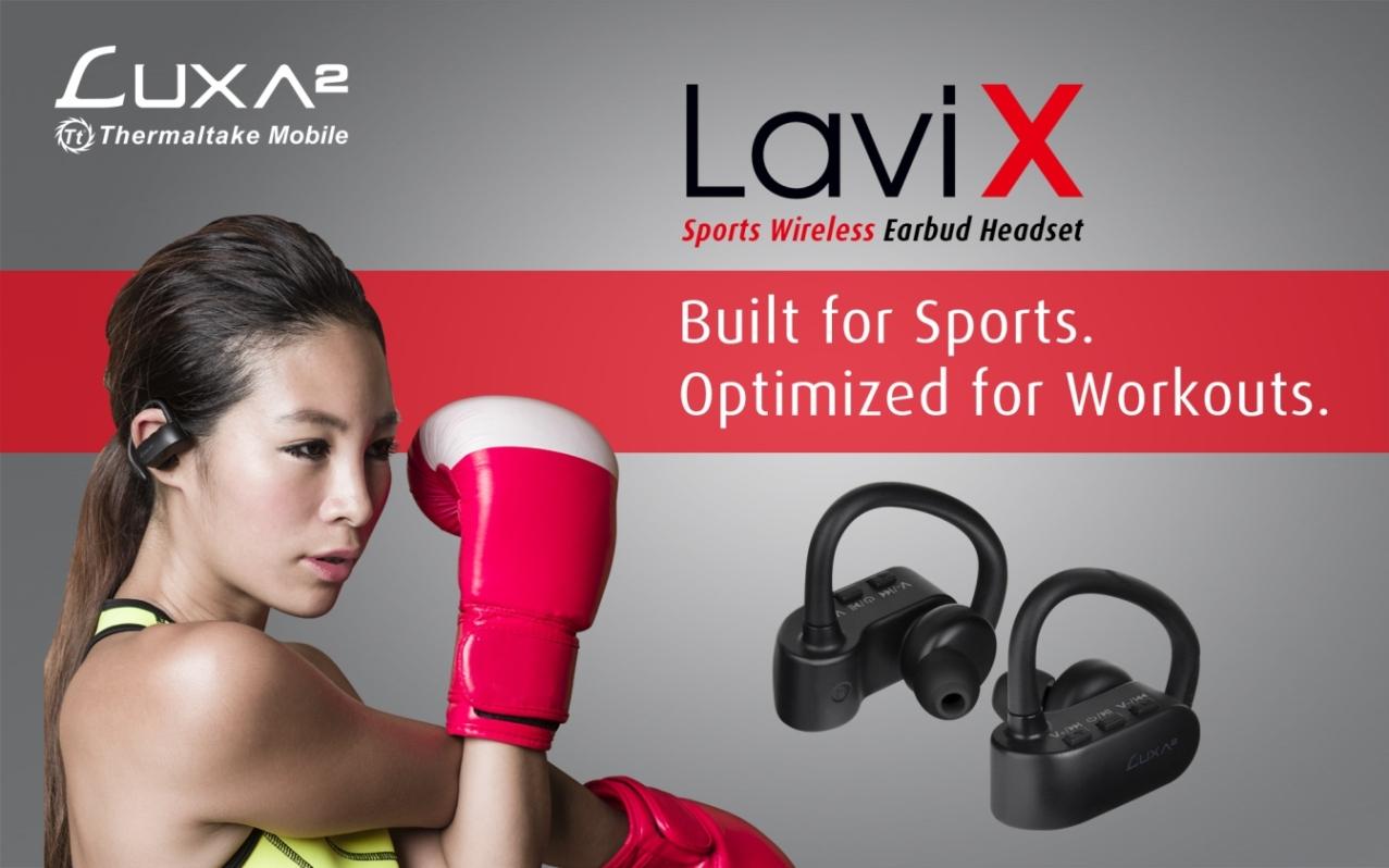 lavi x sports wireless earbud headset Thermaltake Mobile   LUXA2 เปิดตัวชุดหูฟัง Lavi X Sports Wireless Earbud Headset แบบไร้สายที่เน้นความเป็นสปอร์ตในการใช้งาน