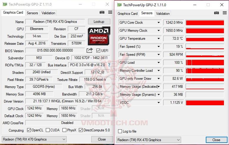gpuz MSI Radeon RX 470 GAMING X 4G Review