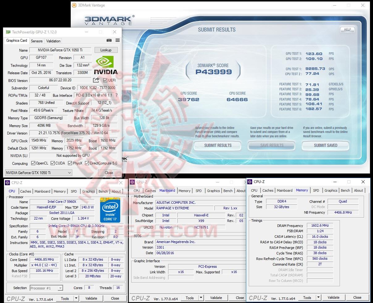 Colorful GeForce GTX 1050 Ti 4GB Review , : : 3DMark Vantage