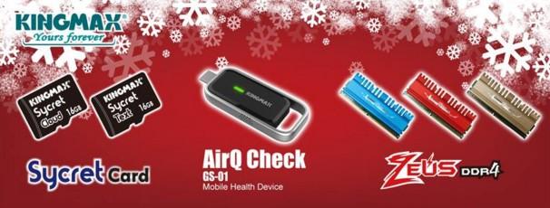 xmas KINGMAX โชว์วีดีโอสาธิตการทำงาน AirQ Check air quality monitor & mobile health device