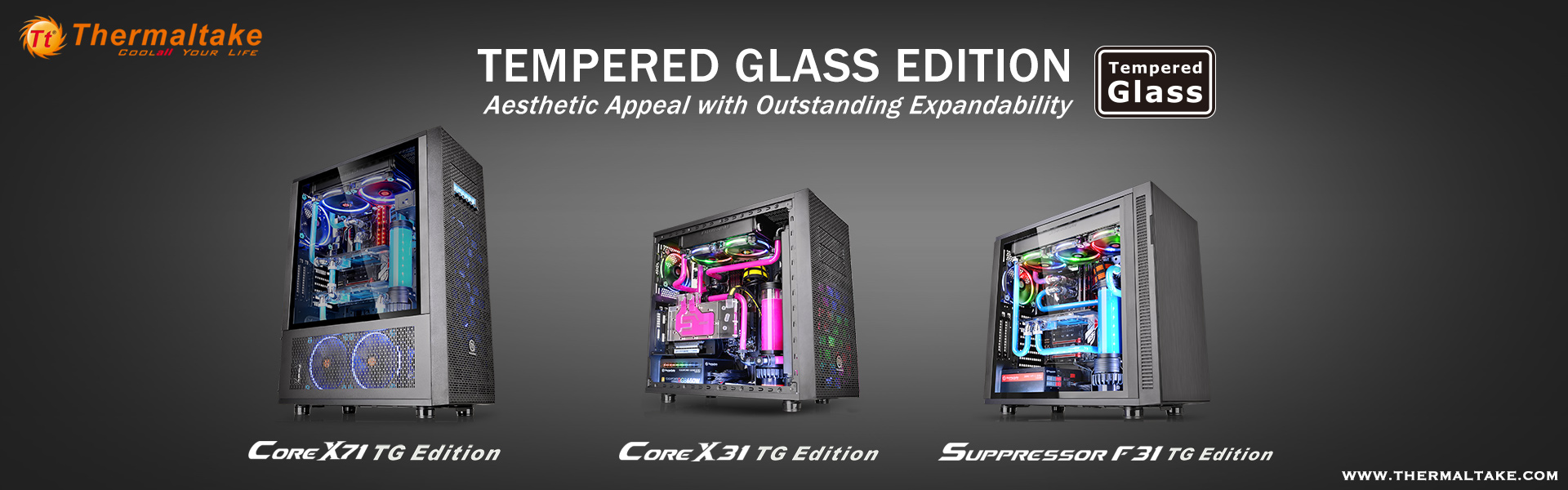 Tg Tempered Glass Edition Mid Tower Chassis Michaelieclark Thermaltake Core P90 New X71aec2a2core X31aec2a2suppressor F31
