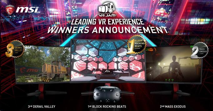 2 MSI ได้รับเกียรติในการประกาศรางวัลสุดยิ่งใหญ่ และรางวัลสูงสุดของนักพัฒนาเกมที่งาน VR JAM 24 มกราคมนี้