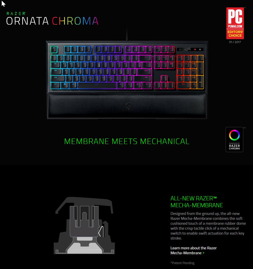 b RAZER ORNATA CHROMA Mechanical Membrane Gaming Keyboard Review