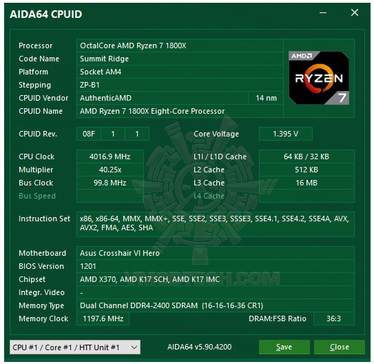 aida64 GEIL DDR4 2400Mhz SUPER LUCE Series AMD Edition Review