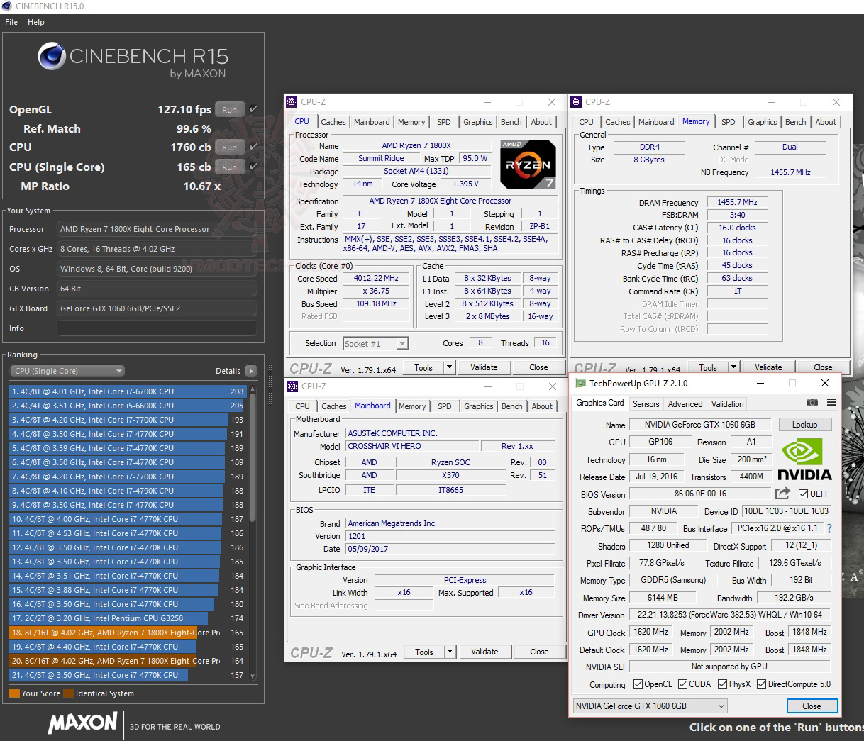cine15 oc GEIL DDR4 2400Mhz SUPER LUCE Series AMD Edition Review