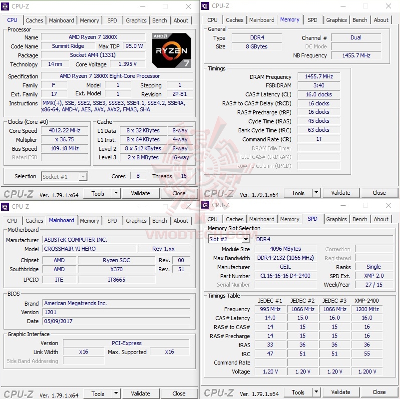 cpuid oc GEIL DDR4 2400Mhz SUPER LUCE Series AMD Edition Review