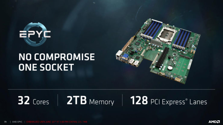 "amd epyc processors 21 740x416 สุดยอดซีพียู AMD EPYC 7000 Series สำหรับ Server ในรหัส Zen ""Zeppelin"" Based MCM ที่มีจำนวนคอร์สูงถึง 32 Cores, 64 Threads, 128 PCIe Lanes พร้อมเปิดตัวแล้ว"