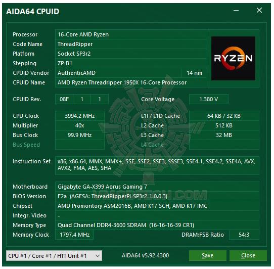 aida4 36 G.SKILL Trident Z RGB DDR4 3200MHz 32GB (8GBx4) Quad Channel Review