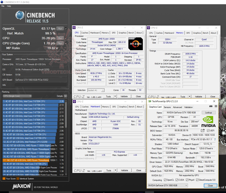 c11 G.SKILL Trident Z RGB DDR4 3200MHz 32GB (8GBx4) Quad Channel Review