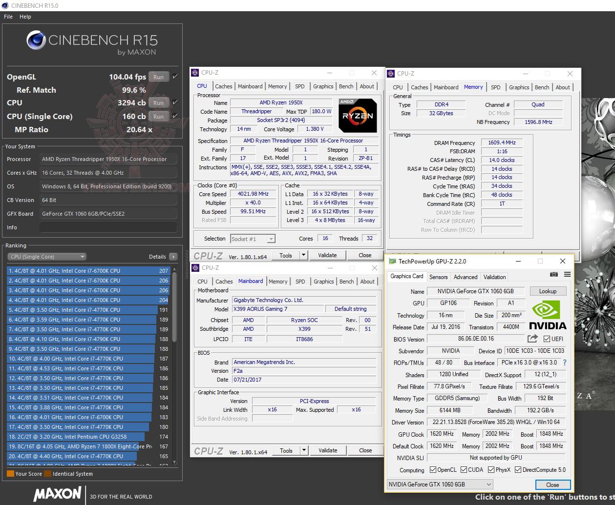 c15 G.SKILL Trident Z RGB DDR4 3200MHz 32GB (8GBx4) Quad Channel Review