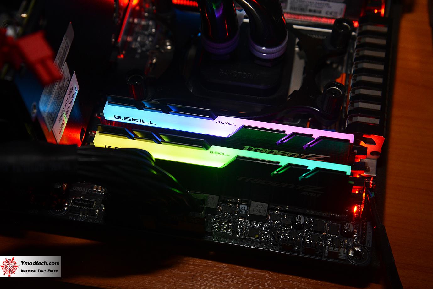 dsc 2987 G.SKILL Trident Z RGB DDR4 3200MHz 32GB (8GBx4) Quad Channel Review