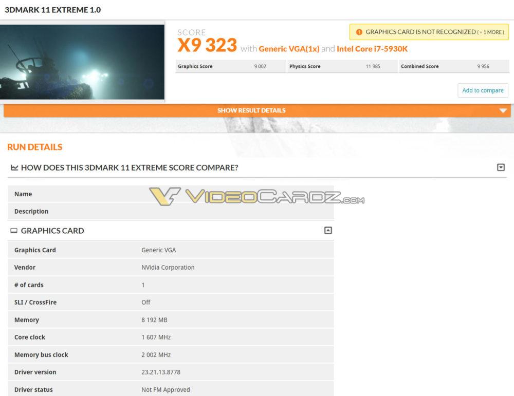 gtx 1070 ti 3dmark 11 extreme 1000x771 ดูผลทดสอบแรกของ NVIDIA GeForce GTX 1070 Ti กับโปรแกรม 3DMark อย่างไม่เป็นทางการแรงแซง Radeon RX Vega 56 ตามคาด