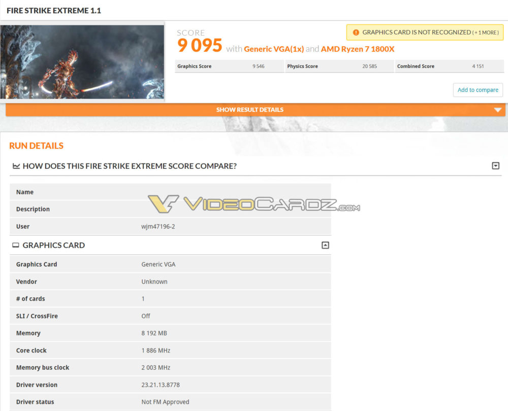 gtx 1070 ti 3dmark fire strike extreme2 1000x809 ดูผลทดสอบแรกของ NVIDIA GeForce GTX 1070 Ti กับโปรแกรม 3DMark อย่างไม่เป็นทางการแรงแซง Radeon RX Vega 56 ตามคาด