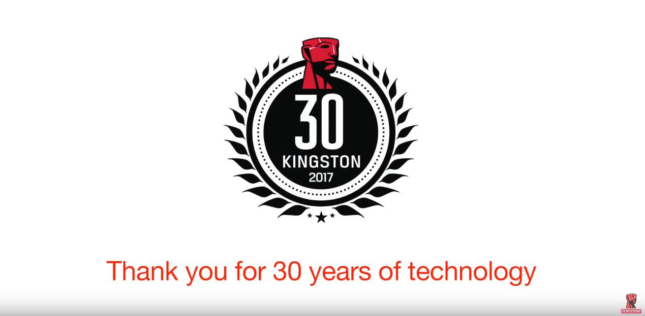 คิงส์ตันเทคโนโลยี ฉลอง 30 ปีแห่งการผลิตโซลูชั่นทางเทคโนโลยีที่มีคุณภาพ