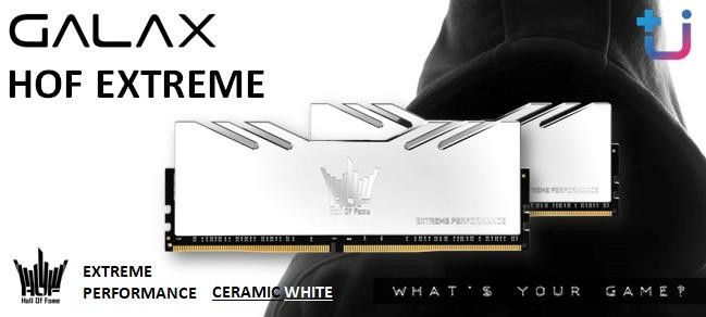 สวยมาก All New !! GALAX MEMORY HOF EXTREME DDR4 CERAMIC WHITE สาวก HOF ไม่ควรพลาด !!