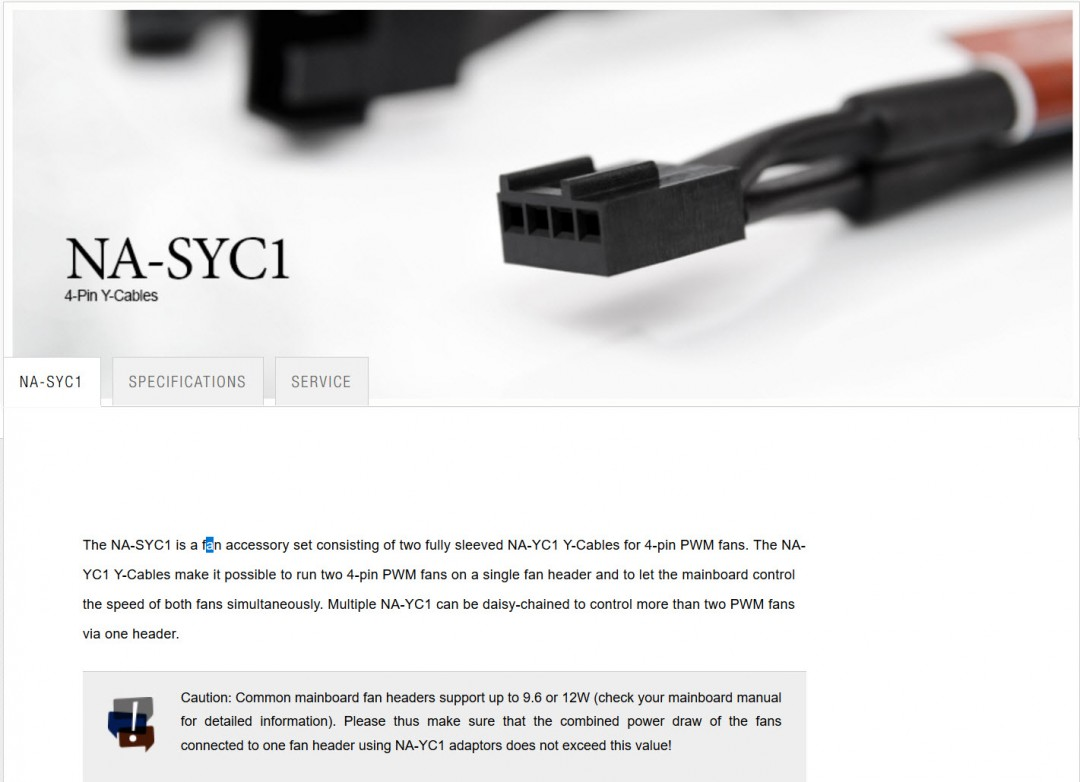 1 NOCTUA NA SYC1 4 Pin Y Cable Review