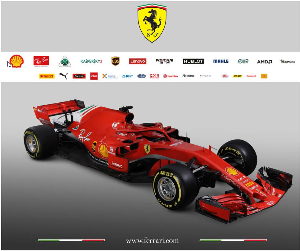 2018 02 26 9 29 48 AMD เปิดตัวเป็นสปอนเซอร์ทีมรถแข่ง F1 ทีม Scuderia Ferrari Formula 1 Team ในปี 2018 นี้