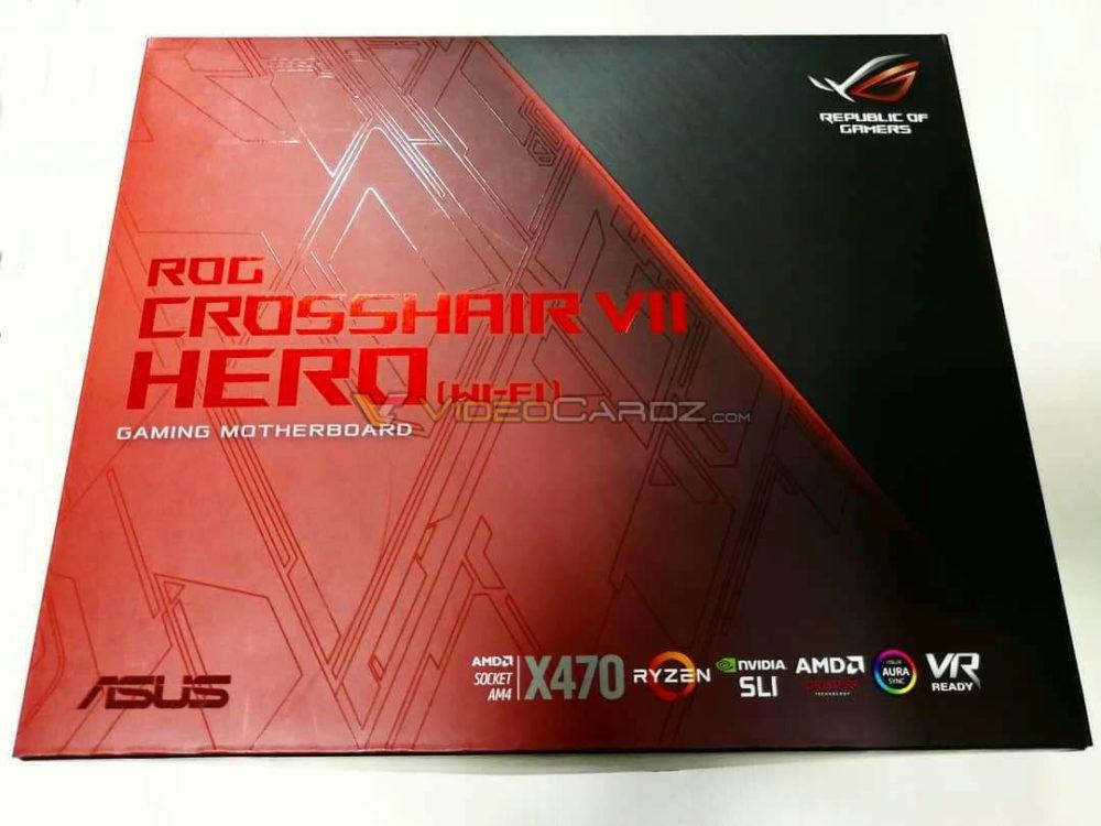เริ่มทยอยออกมา!! กล่อง ASUS ROG X470 Crosshair Hero VII ในชิบเซ็ต X470 พร้อมรองรับซีพียู Ryzen 2000 series ที่จะเปิดตัวเร็ววันนี้