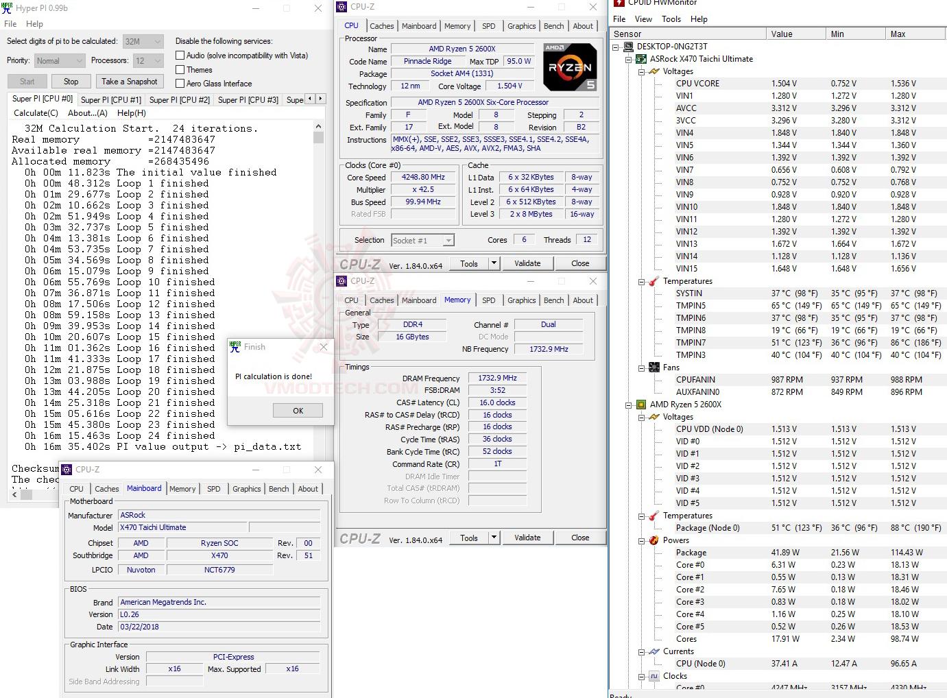 h32 oc ASRock X470 Taichi Ultimate Review