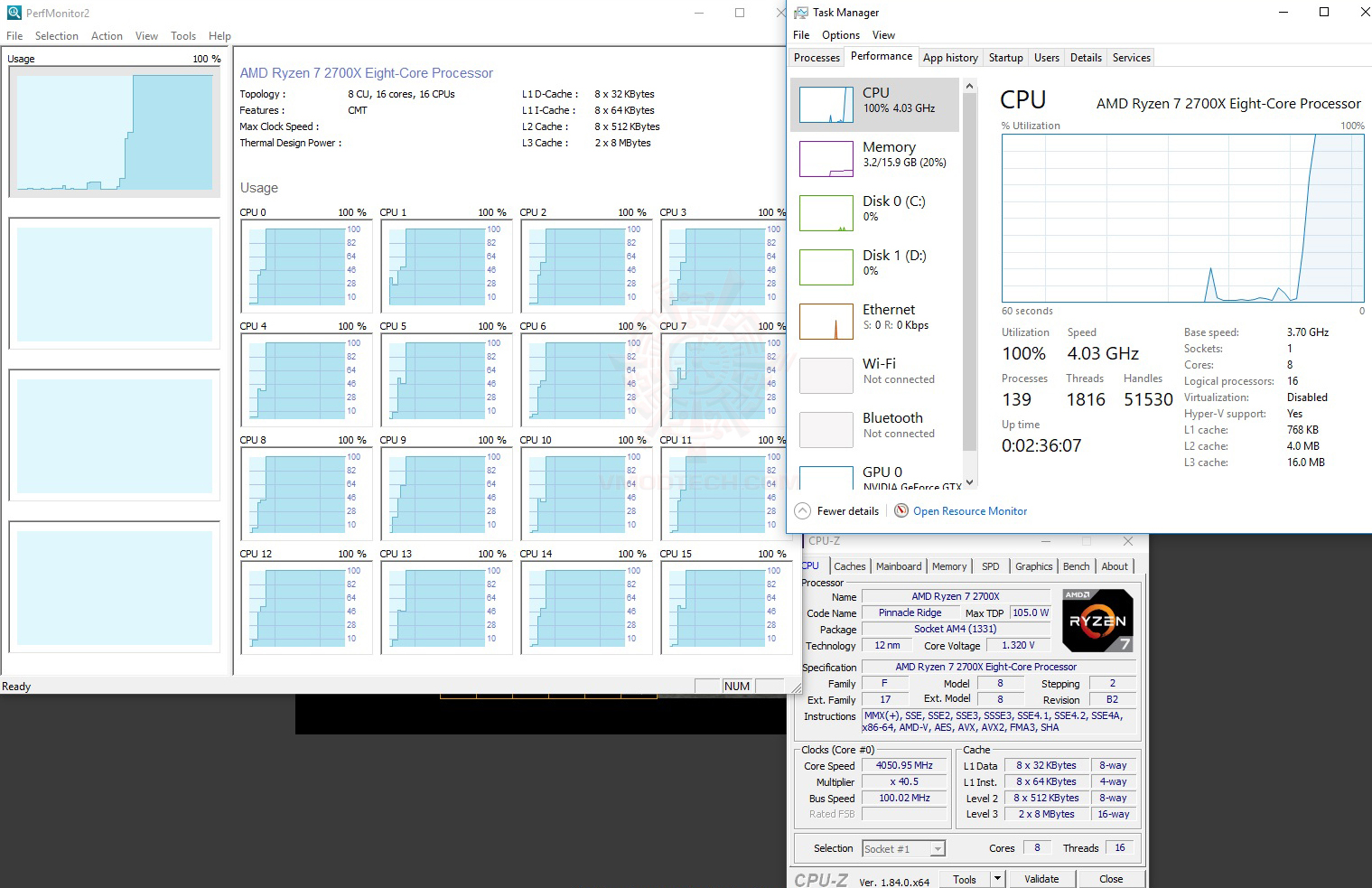 all core1 AMD RYZEN 7 2700X PROCESSOR REVIEW