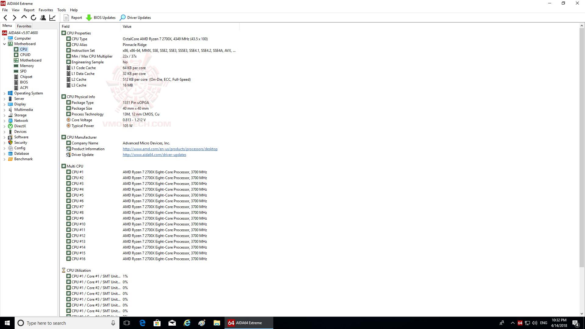 cpu AMD RYZEN 7 2700X PROCESSOR REVIEW